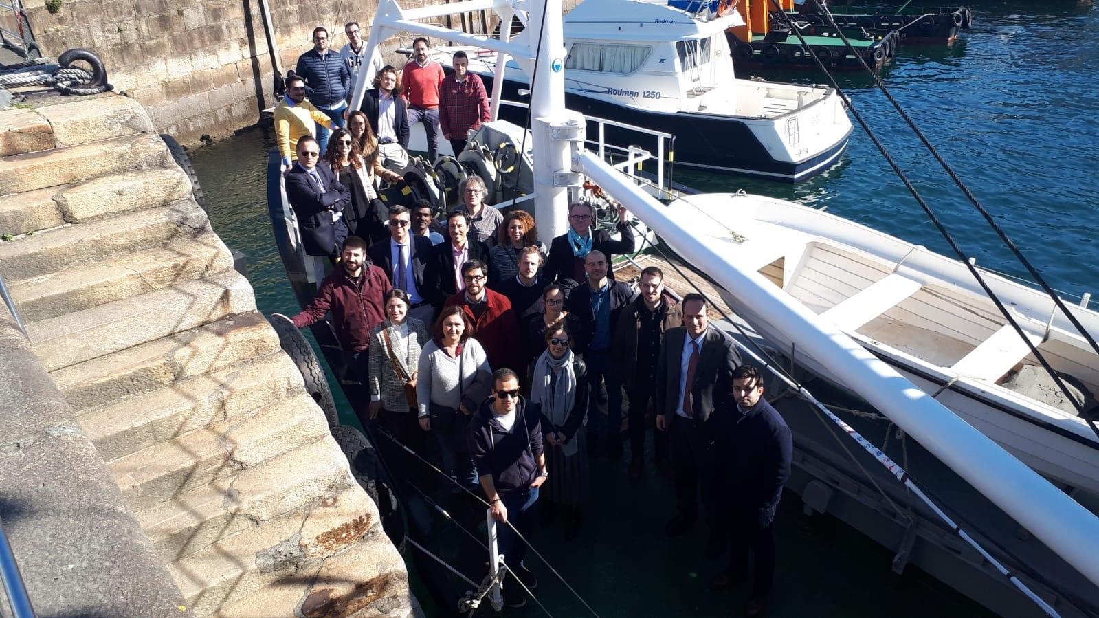 Equipo Portos en el barco